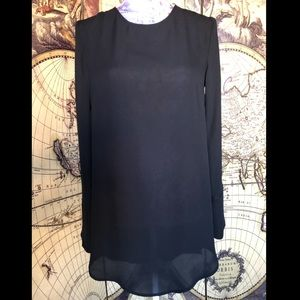 H&M sheer black tunic.